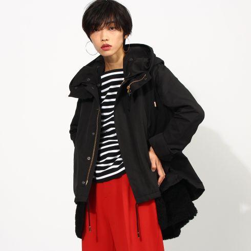 【aquagirl (アクアガール)】◆THE RERACS 別注ボアモッズコートレディース コート モッズ・フィールドコート CAMEL×CAMEL