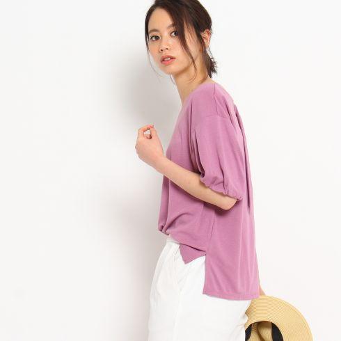 【THE SHOP TK(Ladies) (ザ ショップ ティーケー(レディース))】リップル/後ろDカンレディース トップス カットソー・Tシャツ パープル系