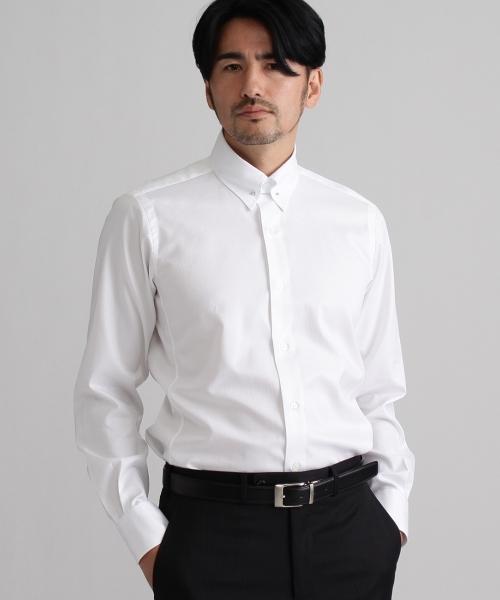 オックスツイルアルビニピンホールシャツ