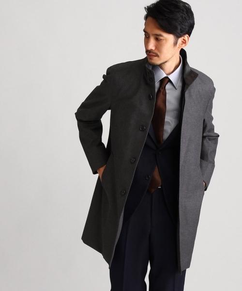 スタンドカラーコート Fabric by Loro Piana