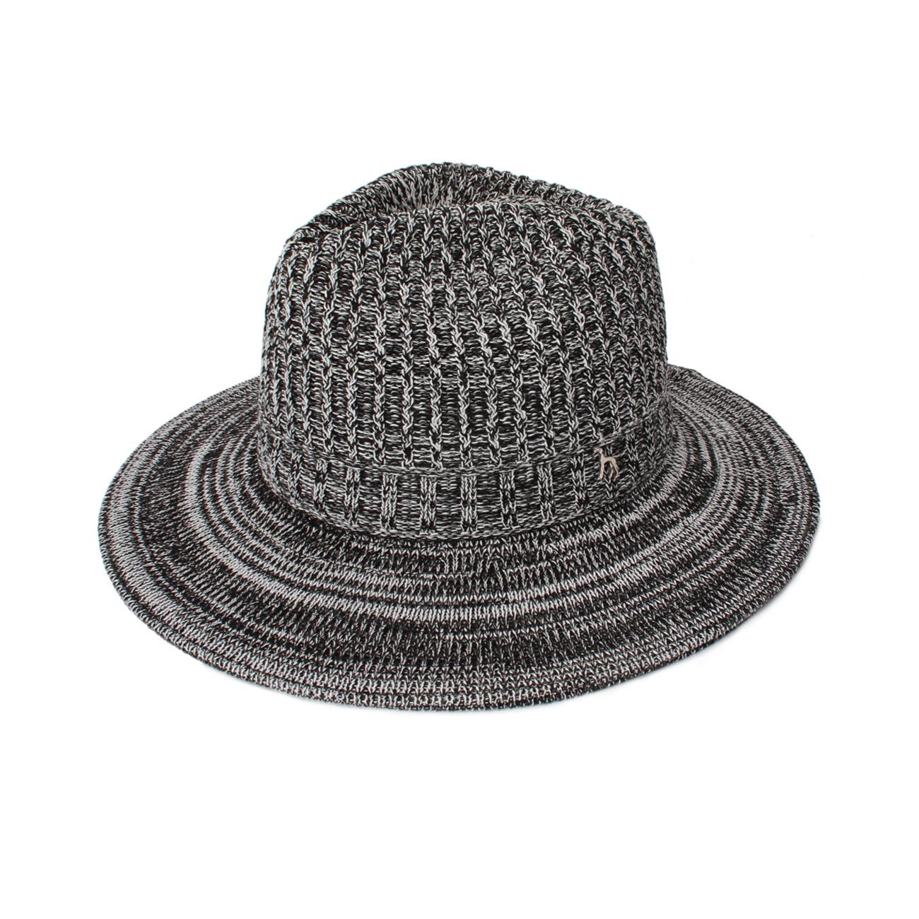 【adabat (アダバット)】ミックスカラークール中折れハットメンズ 帽子|ハット ブラック