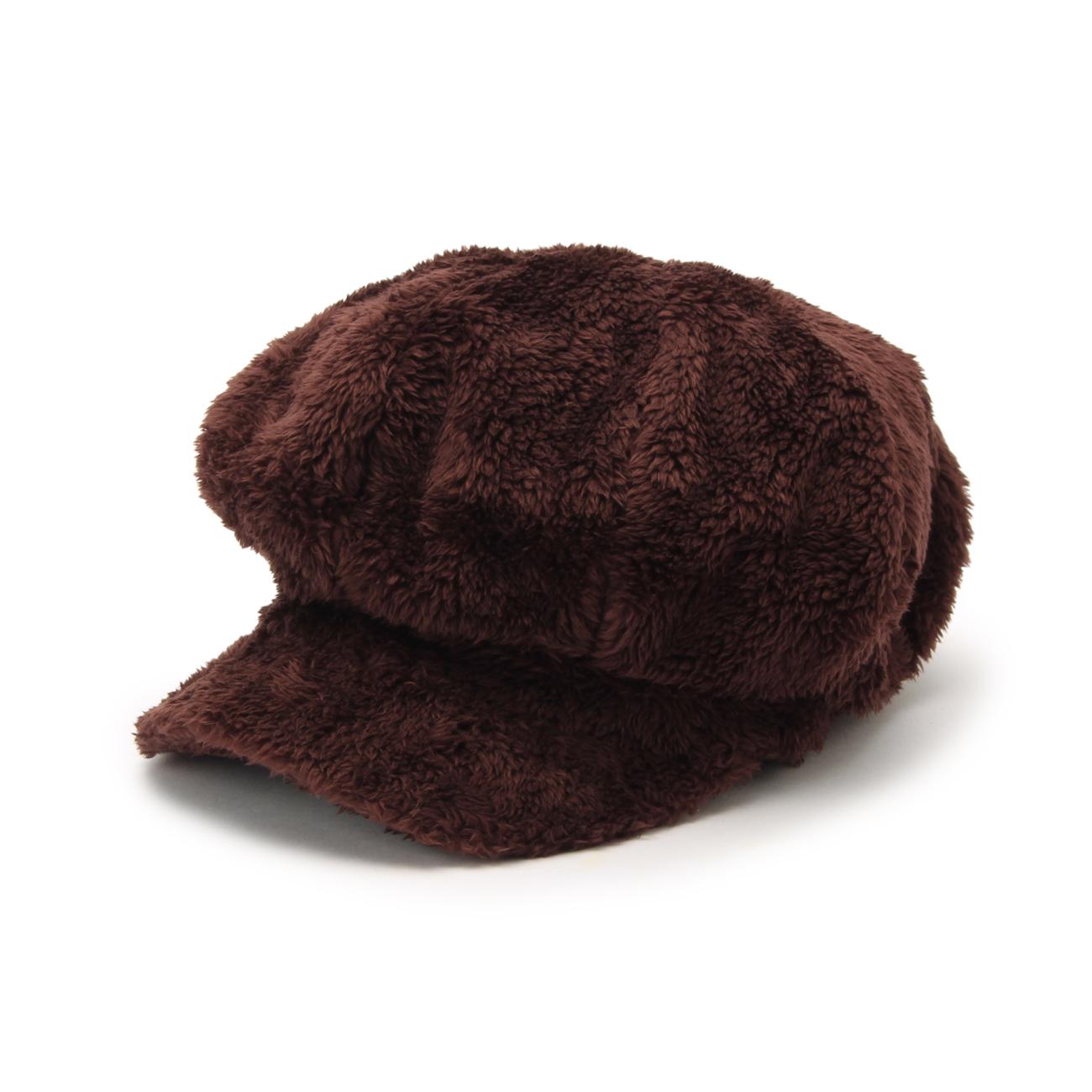 【SHOO・LA・RUE(Kids) (シューラルー)】ボアキャスケットキッズ 帽子 キャスケット ブラウン