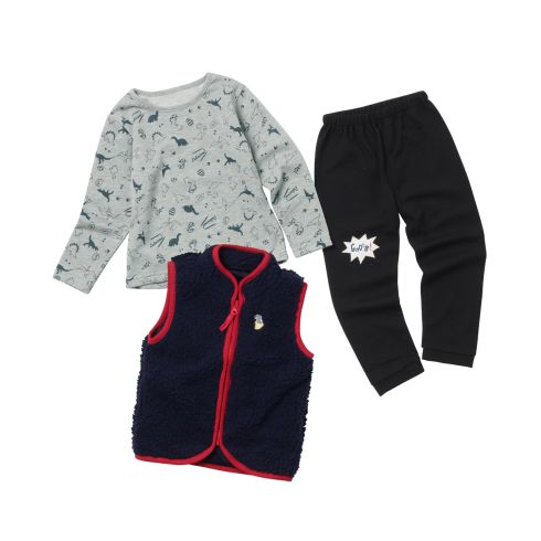 【SHOO・LA・RUE(Kids) (シューラルー)】【3点セット】ベスト×長袖トップス×ボトムキッズ 福袋|福袋 マスタード