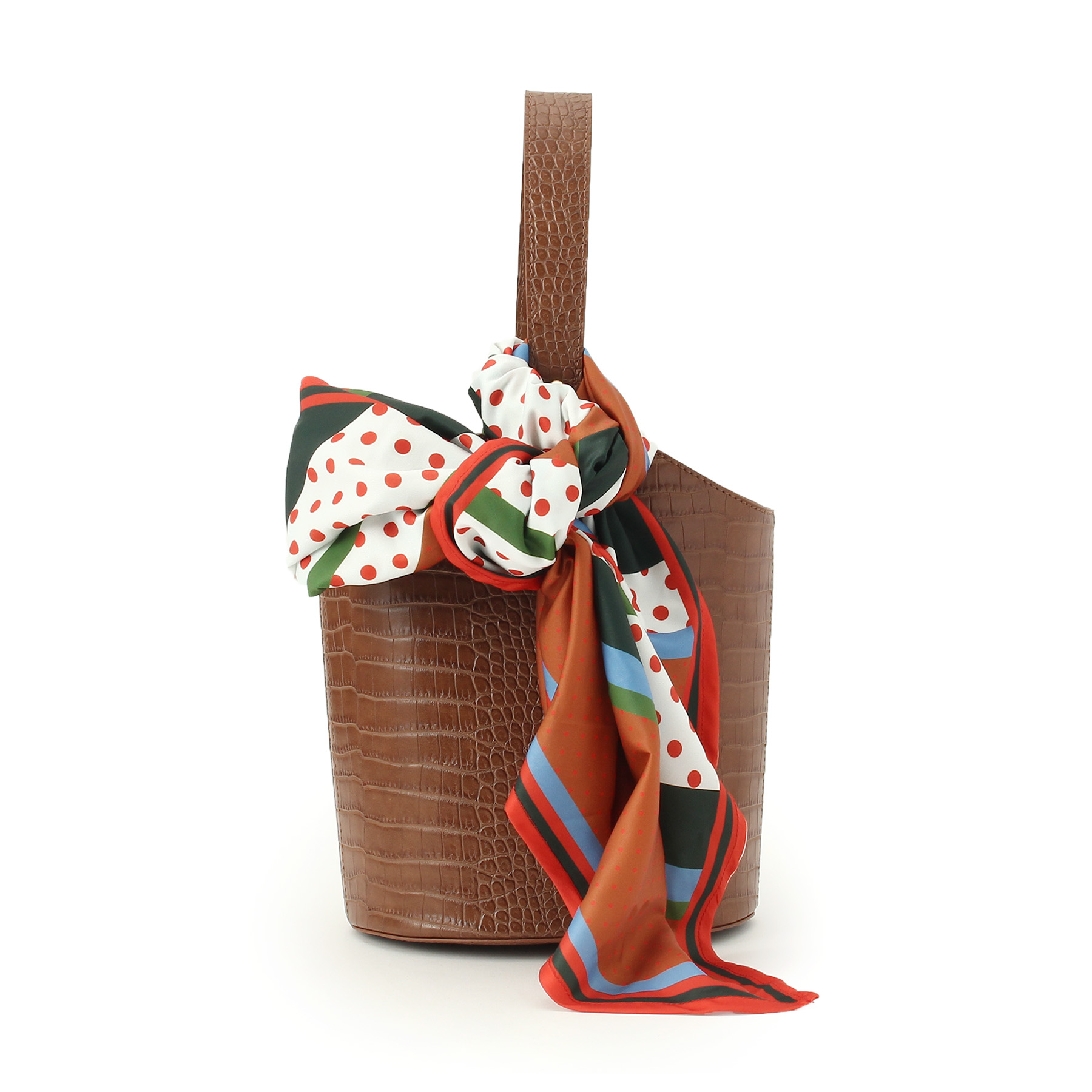 UNTITLED (アンタイトル) レトロスカーフ付クロコ風バッグ