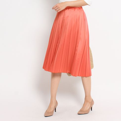 〔洗える〕ミモレプリーツスカート