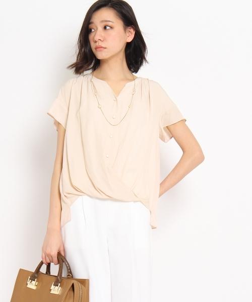 [L]シルキーファイユシャツ