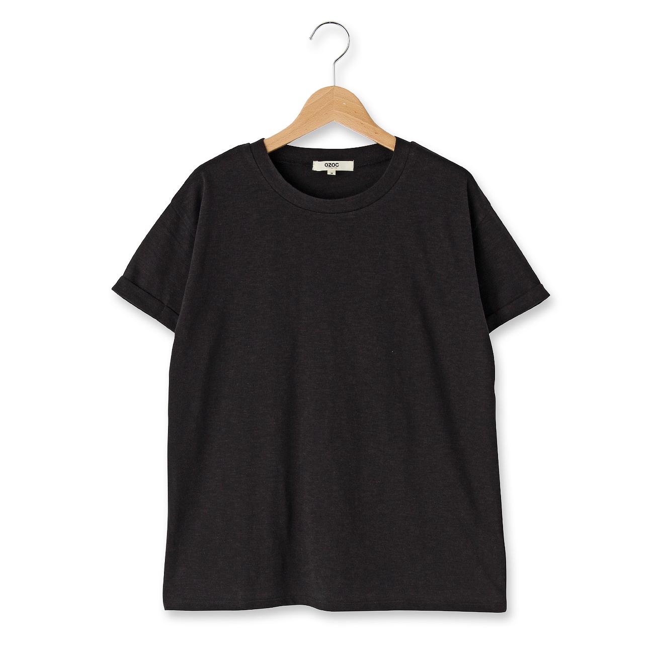 【OZOC (オゾック)】ベーシックスラブTシャツレディース トップス|カットソー・Tシャツ ブラック