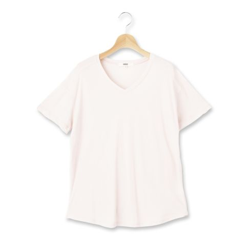 【OZOC (オゾック)】Vネックプルオーバーレディース トップス|カットソー・Tシャツ オフホワイト