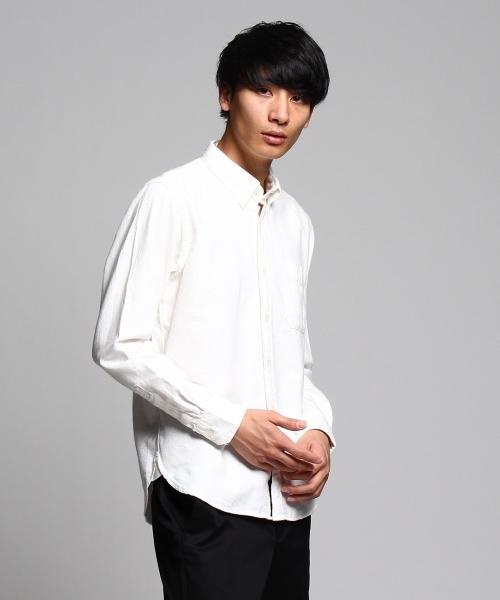 マイクロネップ起毛ボタンダウンシャツ