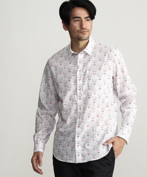 アルビニプリントシャツ