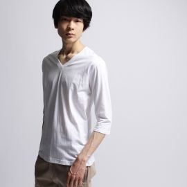 <ワールド> inner light v neck 3/4 sleeve画像