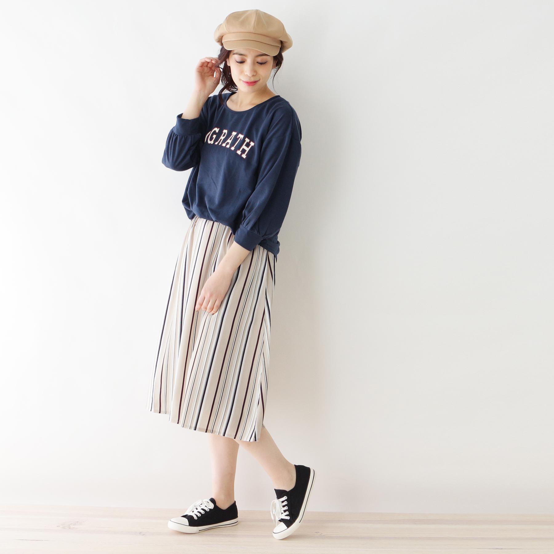 【SHOO・LA・RUE/Cutie Blonde (シューラルー)】スウェット×スカートドッキングワンピースレディース ワンピース ワンピース ブルー