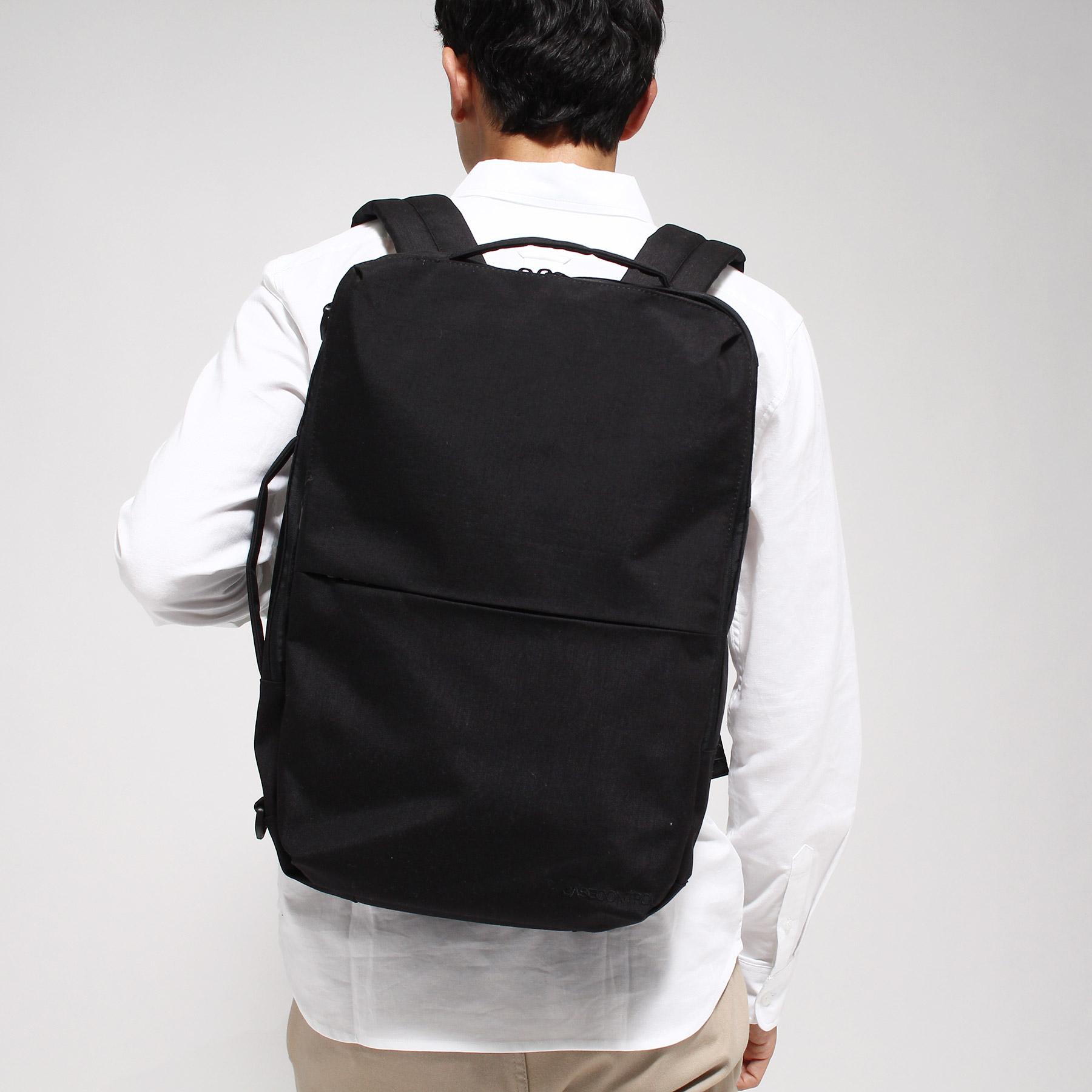 【BASECONTROL (ベース コントロール)】3WAYバックパック コーデュラ・ヘザー スミスメンズ バッグ|バックパック・リュック ブラック