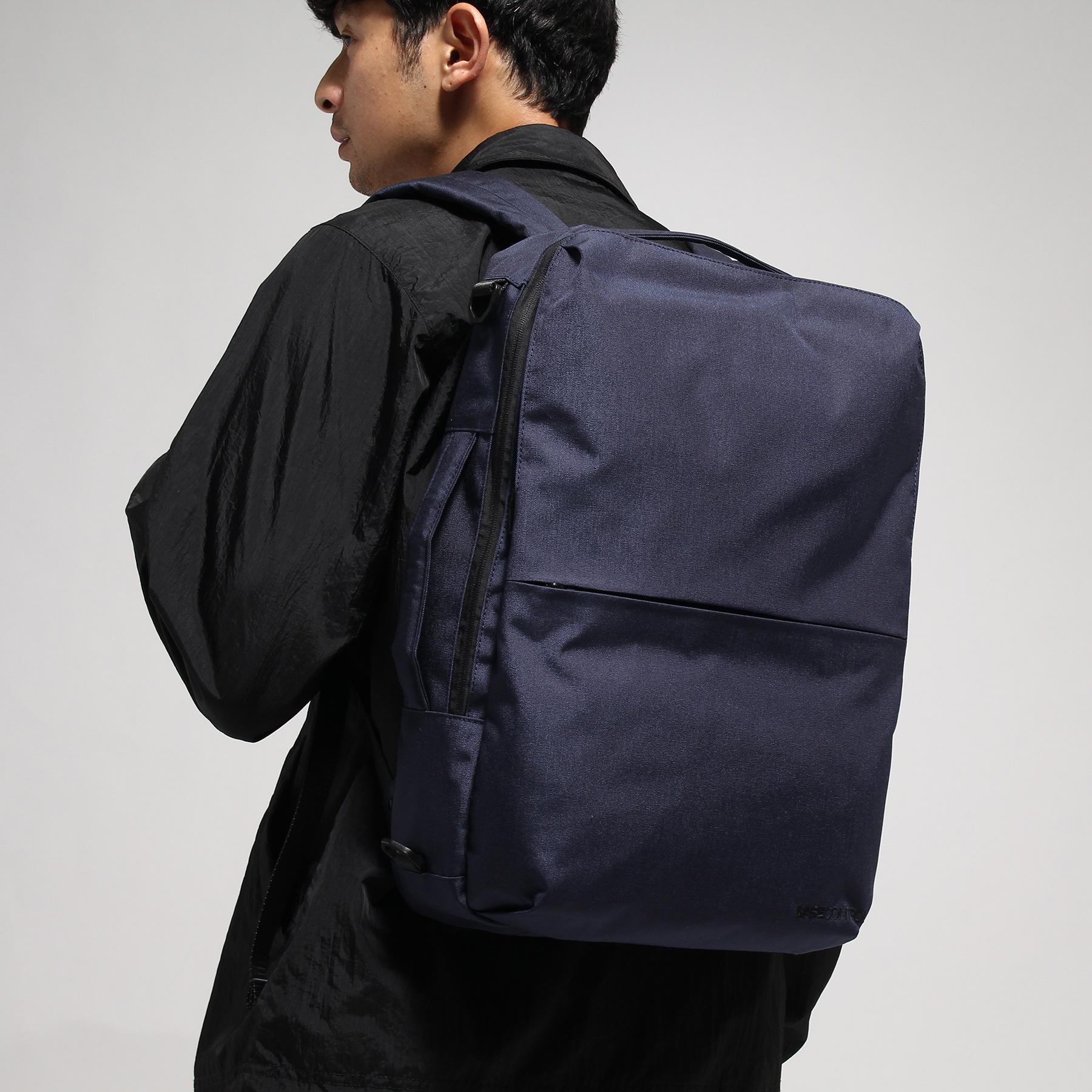 【BASECONTROL (ベース コントロール)】3WAYバックパック コーデュラ・ヘザー スミスメンズ バッグ バックパック・リュック ブルー系