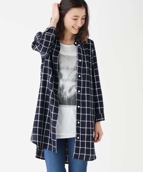 Tシャツ・カットソー メンズ ゆったり 美シルエット ウィンドペン Tシャツ 半袖 Vネック