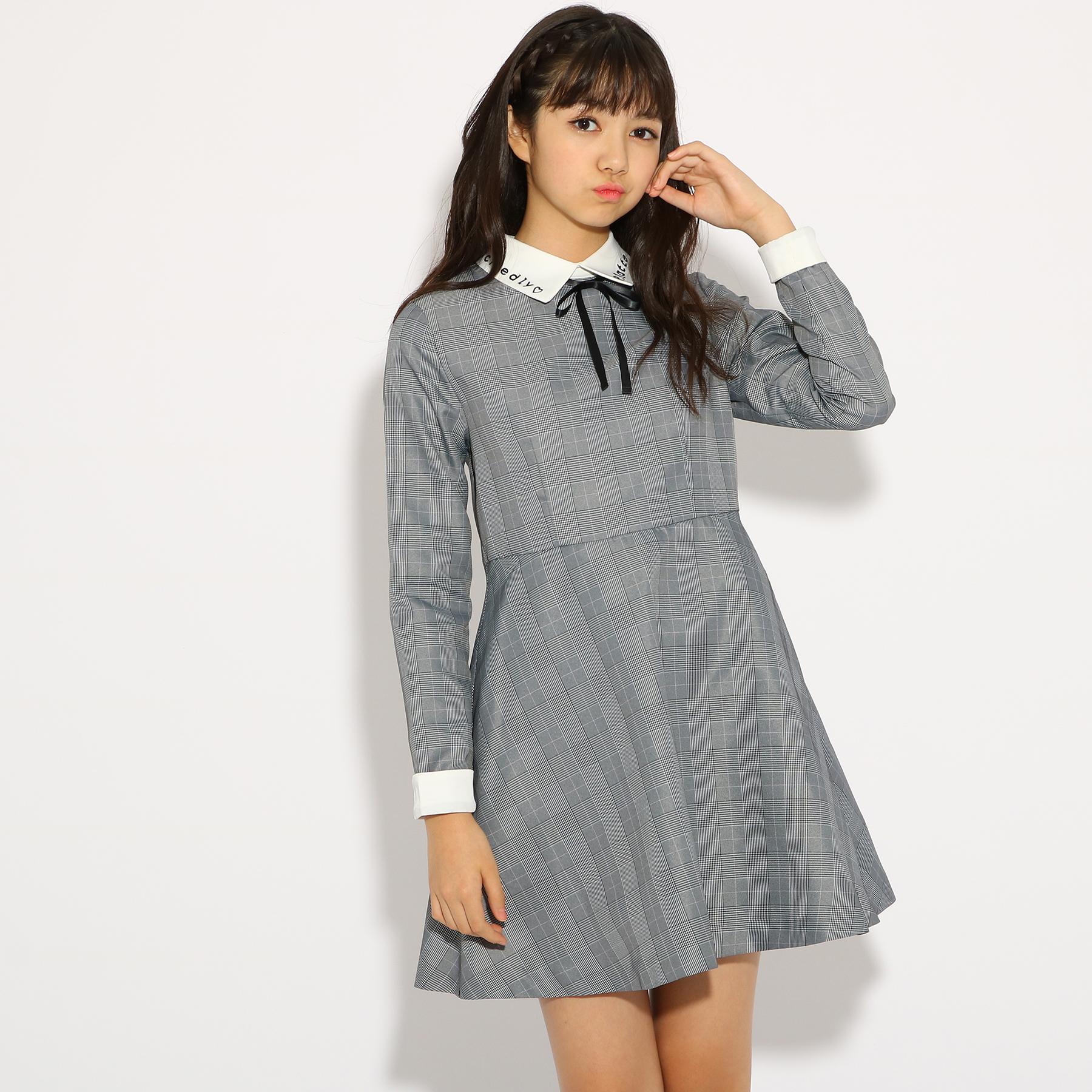 2855ffa3f274d PINK-latte (ピンク ラテ)  卒服 衿付き ワンピース ↑ジャケットは卒業式後に着ないから、いらないかな?…という方におすすめのワンピース スタイルです。ワンピース ...
