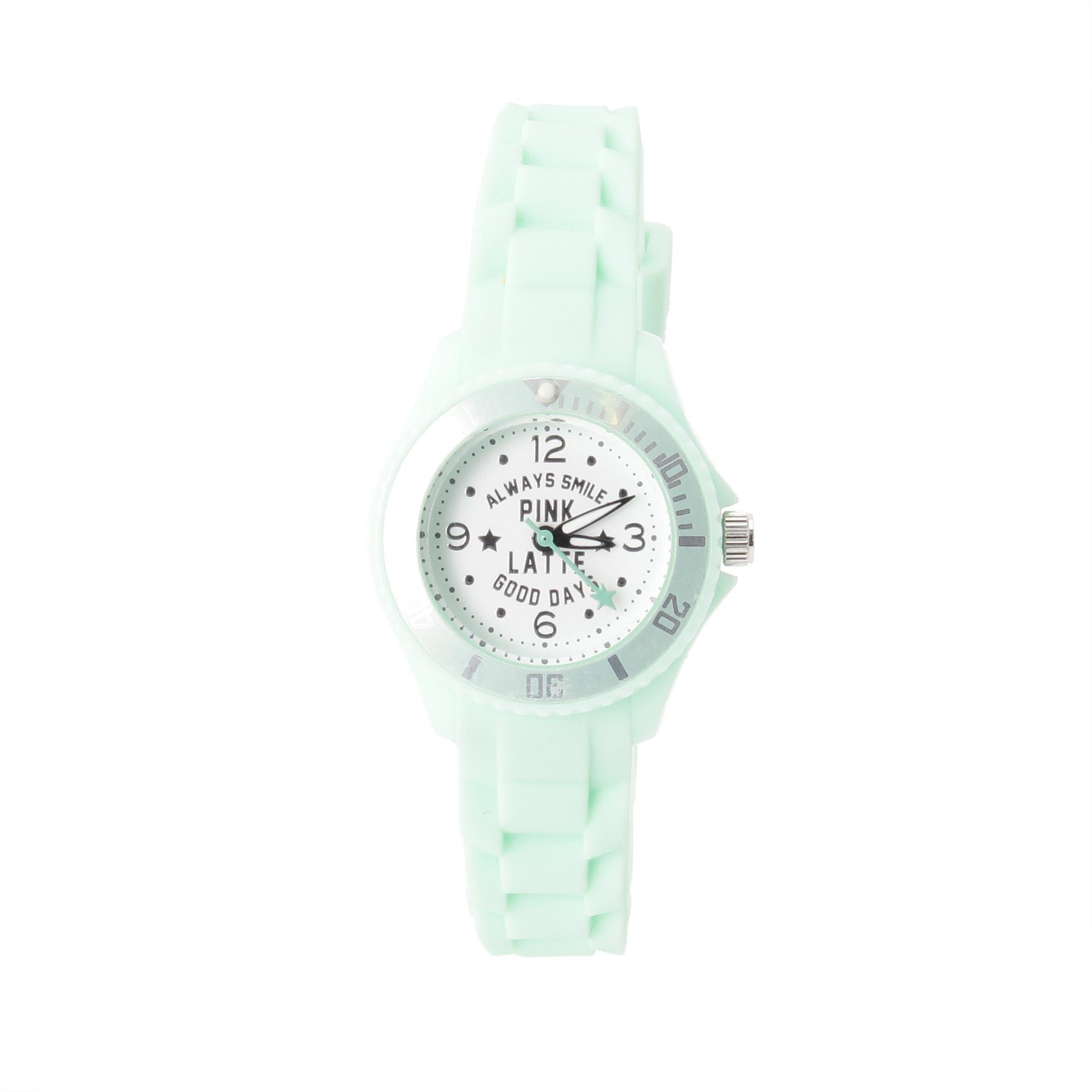 【PINK-latte (ピンク ラテ)】ラバーウォッチ(スター)ティーンズ 雑貨|腕時計 ライトグリーン