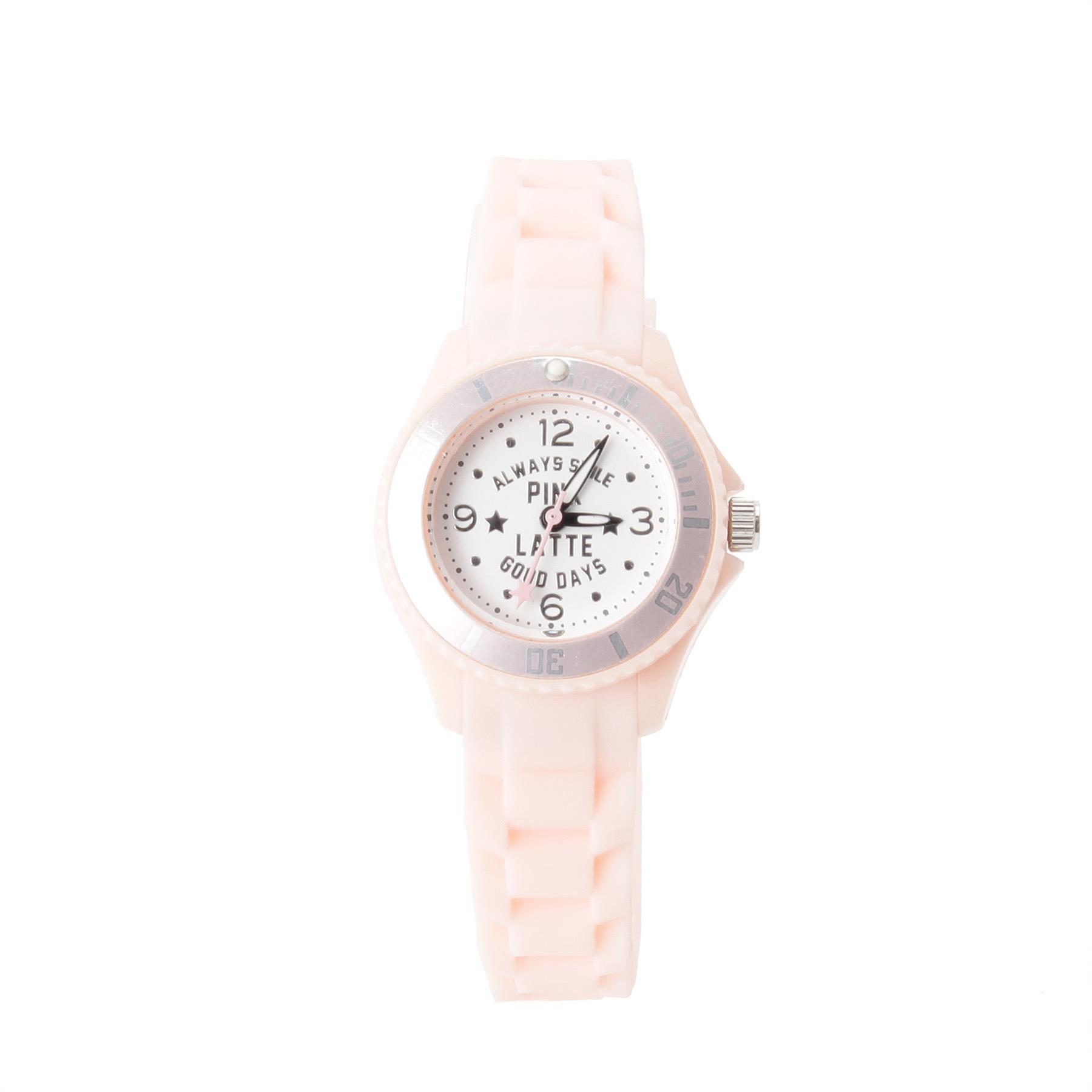 【PINK-latte (ピンク ラテ)】ラバーウォッチ(スター)ティーンズ 雑貨 腕時計 ベビーピンク