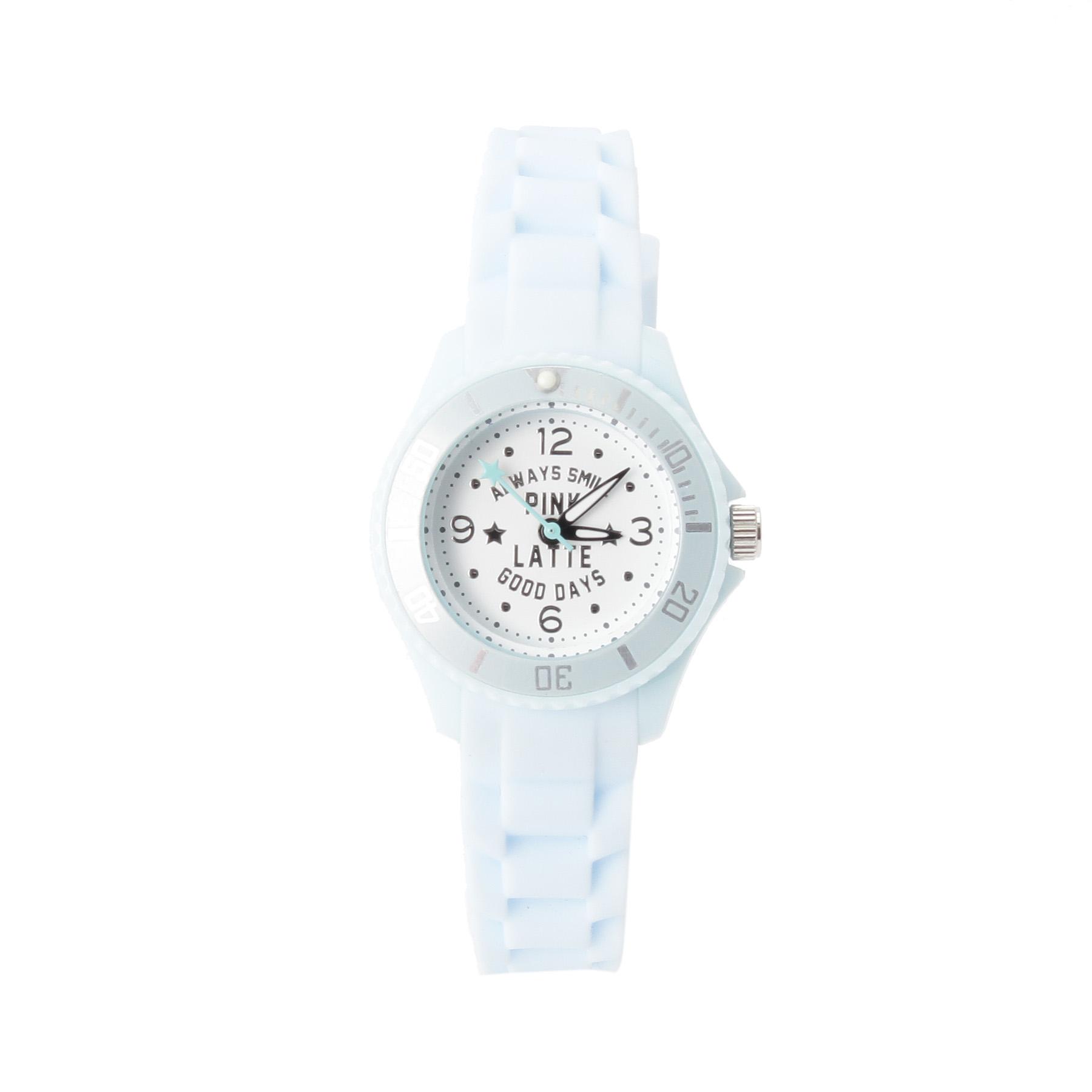 【PINK-latte (ピンク ラテ)】ラバーウォッチ(スター)ティーンズ 雑貨 腕時計 サックス