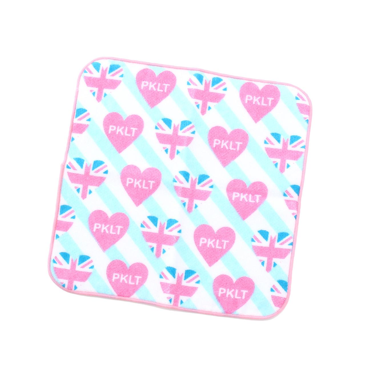 【PINK-latte (ピンク ラテ)】プリントハンドタオルティーンズ 雑貨|ハンカチ ホワイト