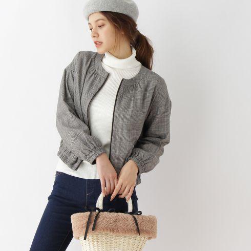 【Couture brooch (クチュールブローチ)】【WEB限定サイズ(S・LL)あり】オータムブルゾンレディース コート|ブルゾン(ジャンパー) ネイビー