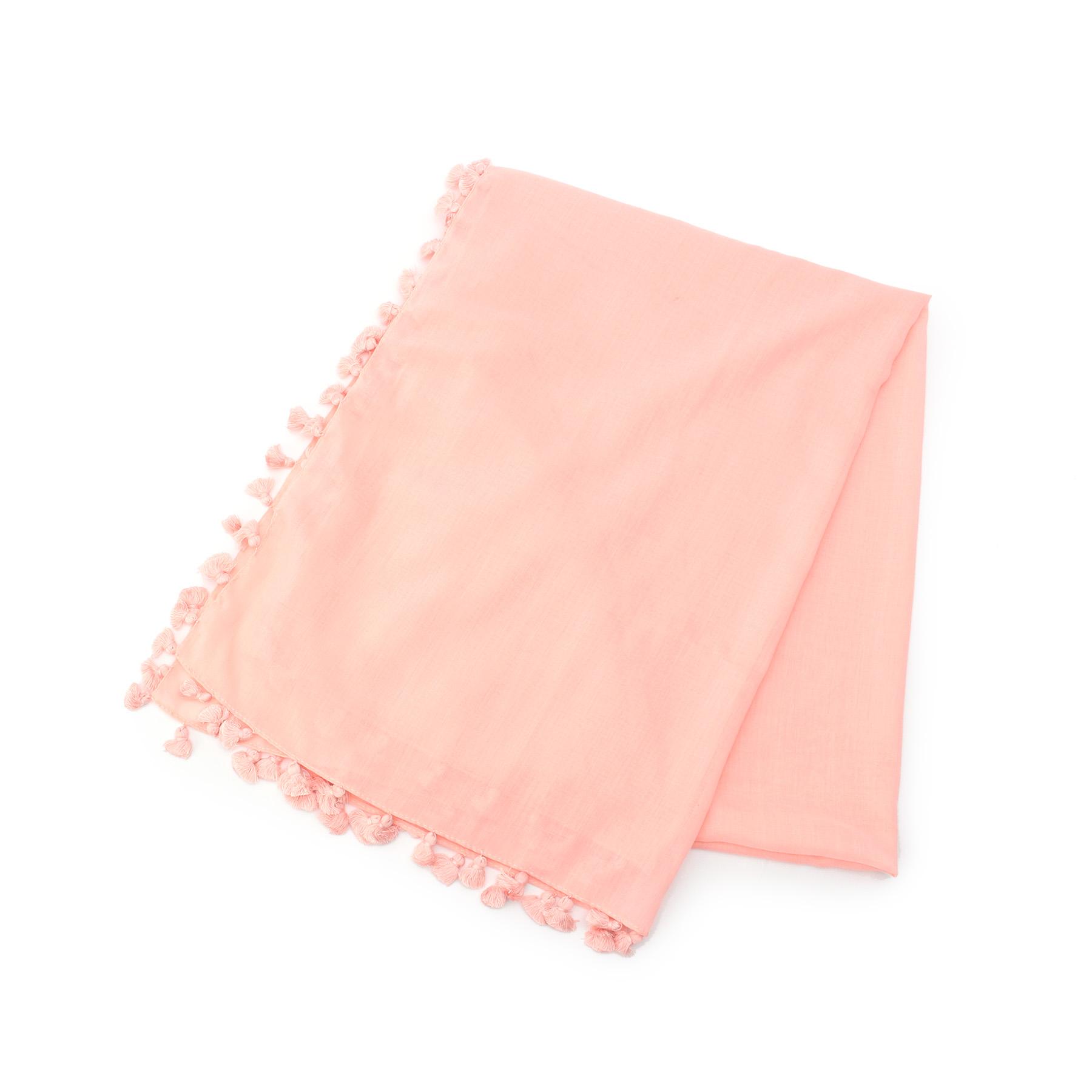【Couture brooch (クチュールブローチ)】春カラーポンポンストールレディース 雑貨 マフラー・ストール ベビーピンク