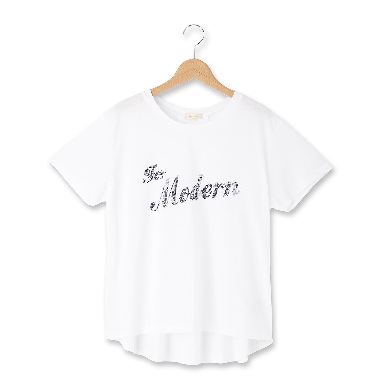 【HusHusH (ハッシュアッシュ)】◆ペイズリーロゴTシャツレディース トップス|カットソー・Tシャツ ホワイト