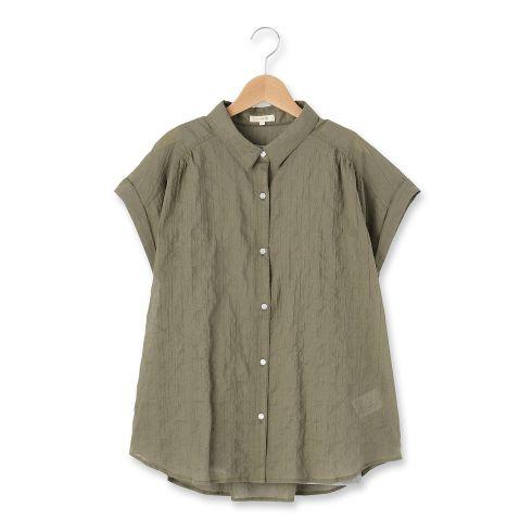 タンクトップ付きシャーリングシャツ