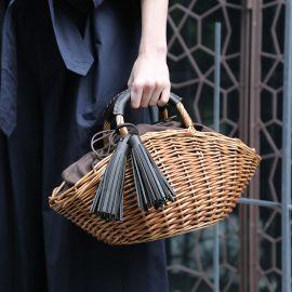 【WEB限定】タッセル付き かごバッグ