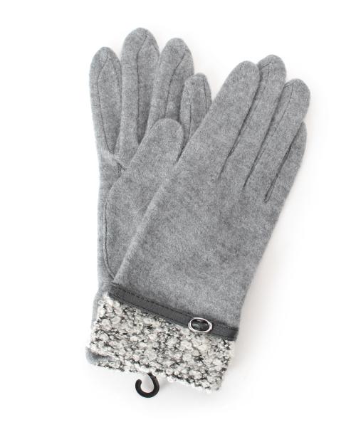 ツィードコンビ手袋