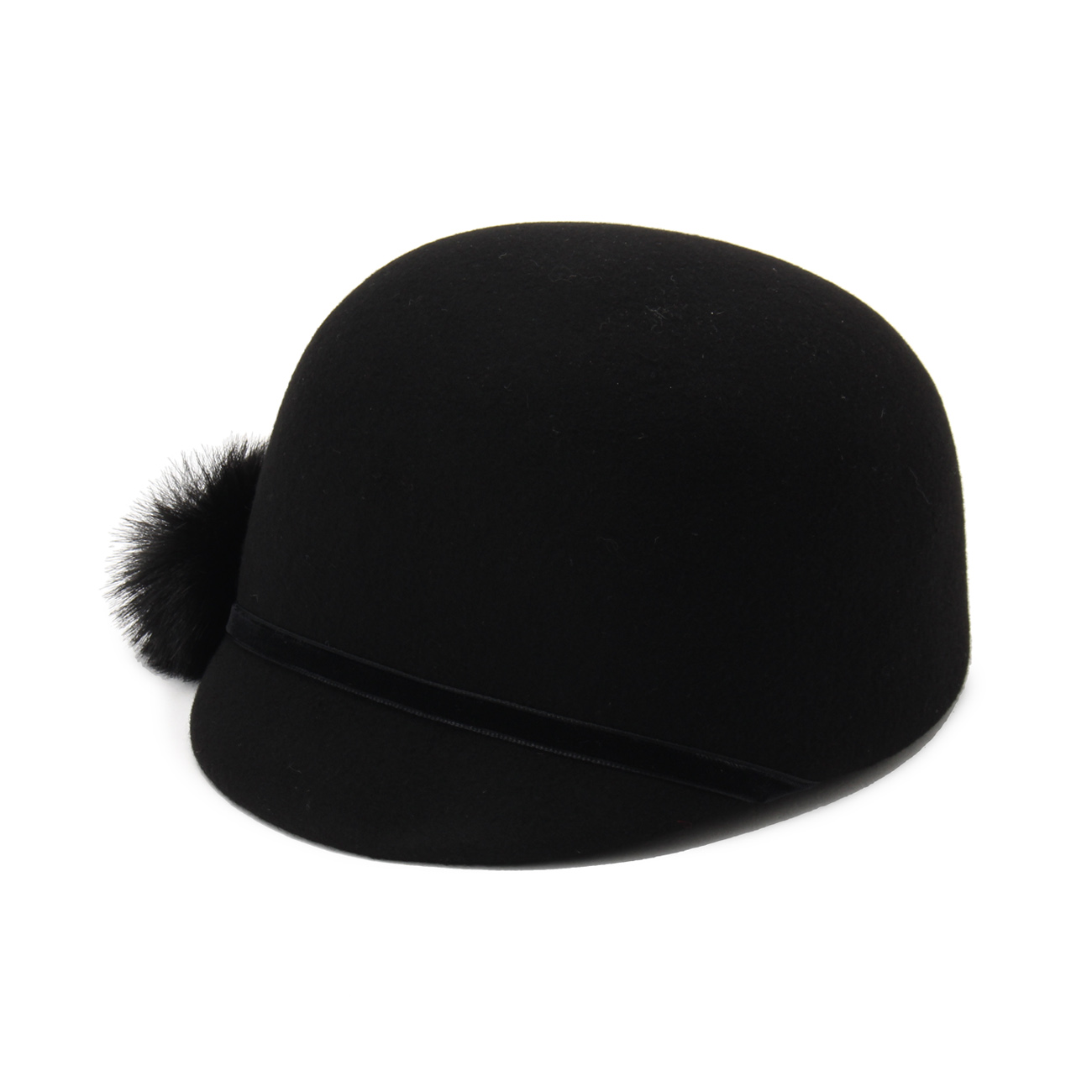 【Modify (モディファイ)】HATS&DREAMSポンポン付ライディングハットレディース 帽子|その他帽子 ブラック