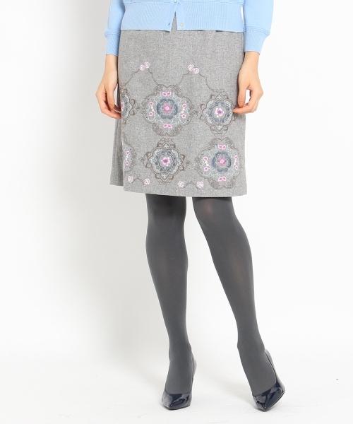 マラケシュ柄刺繍スカート