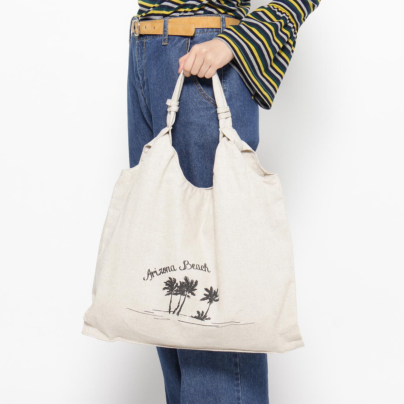 【THE EMPORIUM (ジエンポリアム)】サマーキャンバストートレディース バッグ|トートバッグ ホワイト系