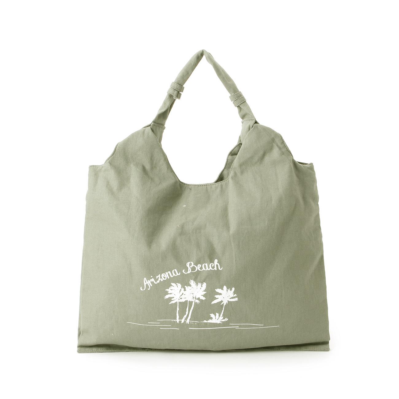 【THE EMPORIUM (ジエンポリアム)】サマーキャンバストートレディース バッグ|トートバッグ グリーン
