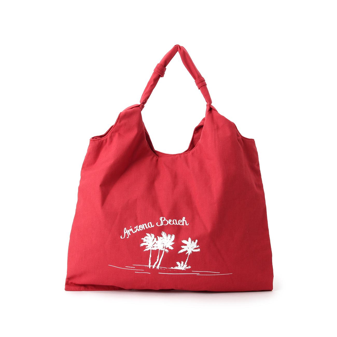 【THE EMPORIUM (ジエンポリアム)】サマーキャンバストートレディース バッグ|トートバッグ レッド