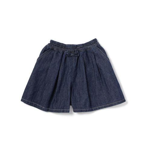 【3can4on(Kids) (サンカンシオン)】デニムキュロットパンツキッズ パンツ|ショートパンツ・キュロット ネイビー