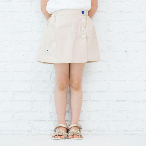 【3can4on(Kids) (サンカンシオン)】タイプライタークロスパンツキッズ パンツ|ショートパンツ・キュロット ネイビー