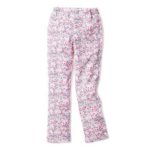 【3can4on(Kids) (サンカンシオン)】花柄ニットカルゼパンツキッズ パンツ|フルレングスパンツ ブルー