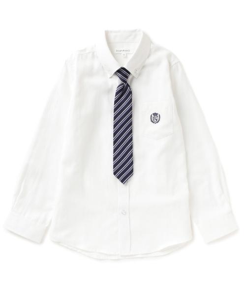 ネクタイ付きボタンダウンシャツ