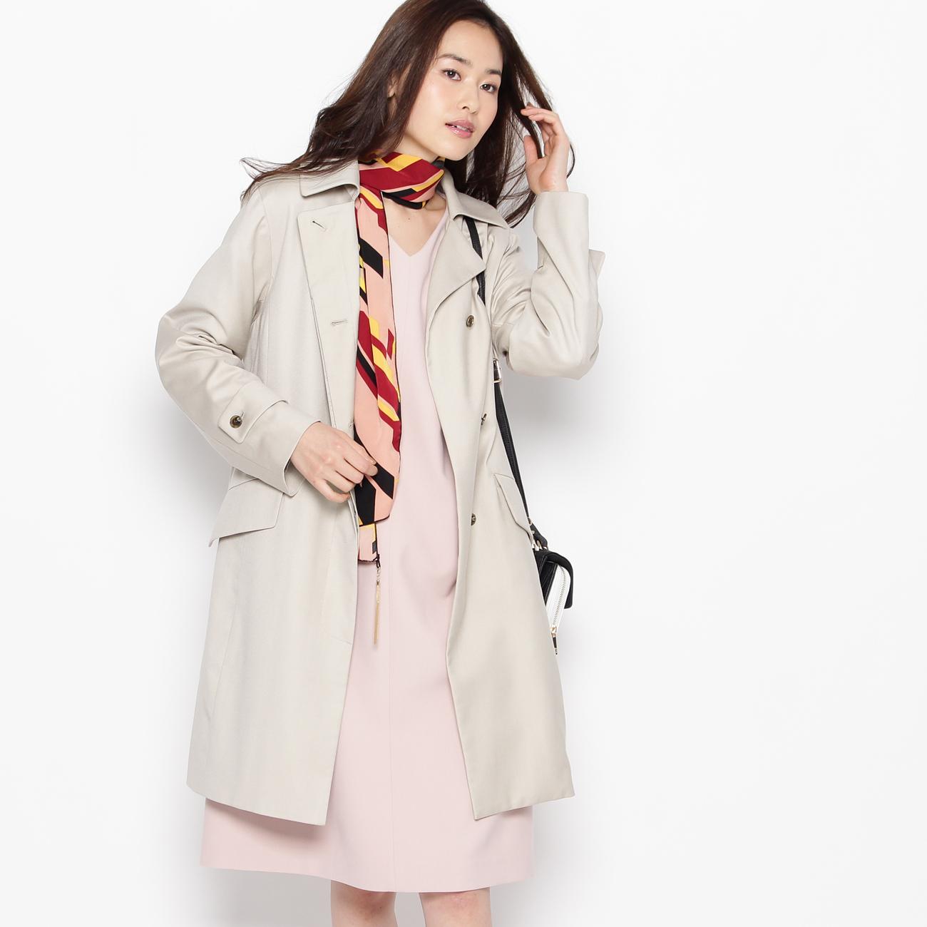 【smart pink (スマートピンク)】ライナー付きスプリングコートレディース コート|トレンチコート ライトベージュ
