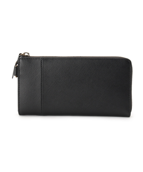 レザーL型ファスナー長財布