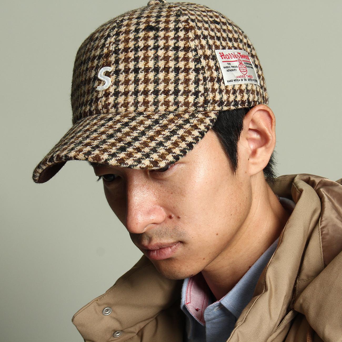 【THE SHOP TK(Men) (ザ ショップ ティーケー(メンズ))】ハリスツイードローCAPメンズ 帽子|キャップ ベージュ系