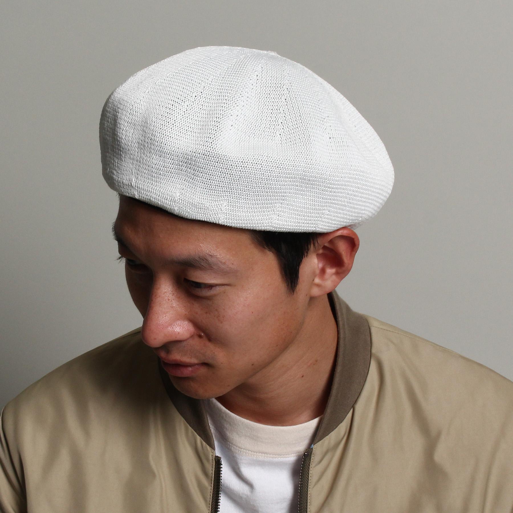 【THE SHOP TK(Men) (ザ ショップ ティーケー(メンズ))】サーモベレーメンズ 帽子|ハンチング・ベレー帽 オフホワイト