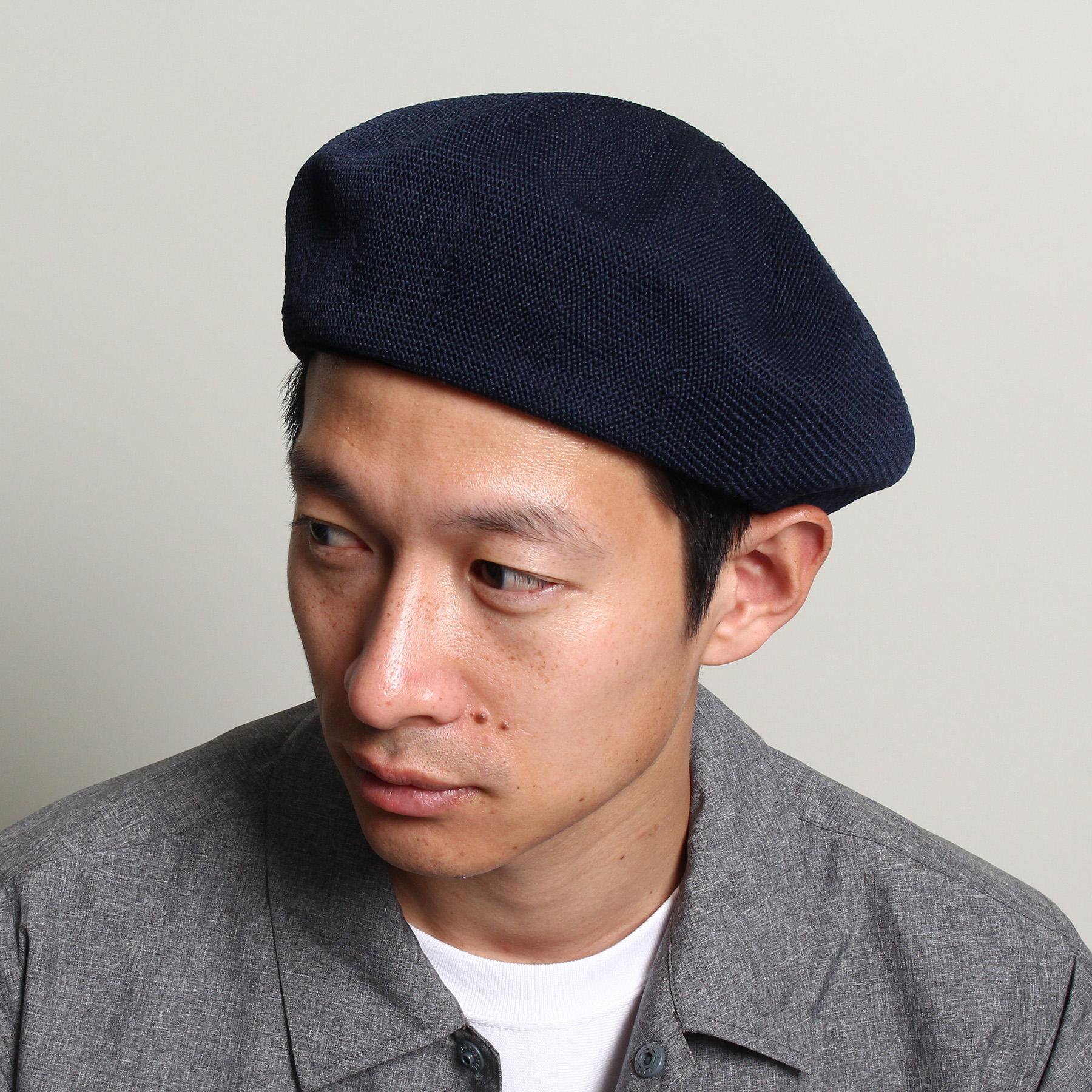 【THE SHOP TK(Men) (ザ ショップ ティーケー(メンズ))】サーモベレーメンズ 帽子|ハンチング・ベレー帽 ネイビー