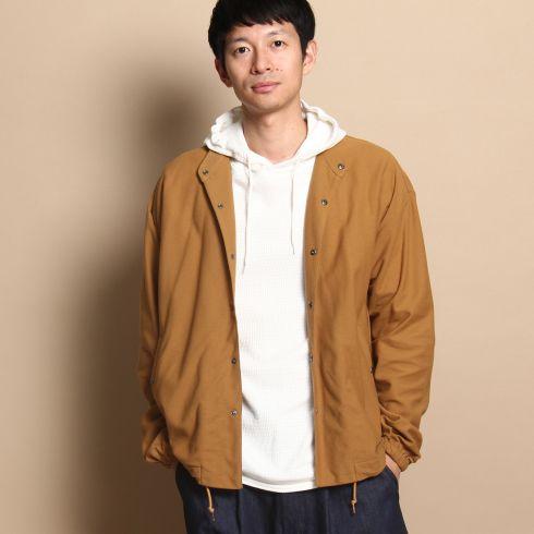 【THE SHOP TK(Men) (ザ ショップ ティーケー(メンズ))】バンドカラーコーチジャケットメンズ ジャケット|ワークジャケット キャメル