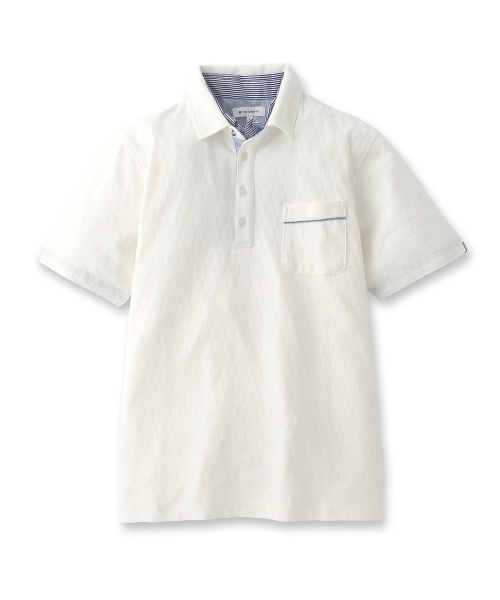 フェイクレイヤード風ポロシャツ