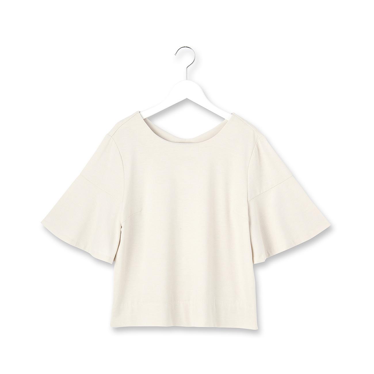 【OPAQUE.CLIP (オペーク ドット クリップ)】フレアスリーブカットソーレディース トップス|カットソー・Tシャツ オフホワイト