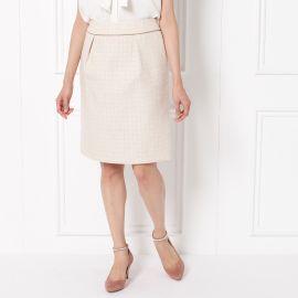 <WORLD> ミックスツィードタイトスカート