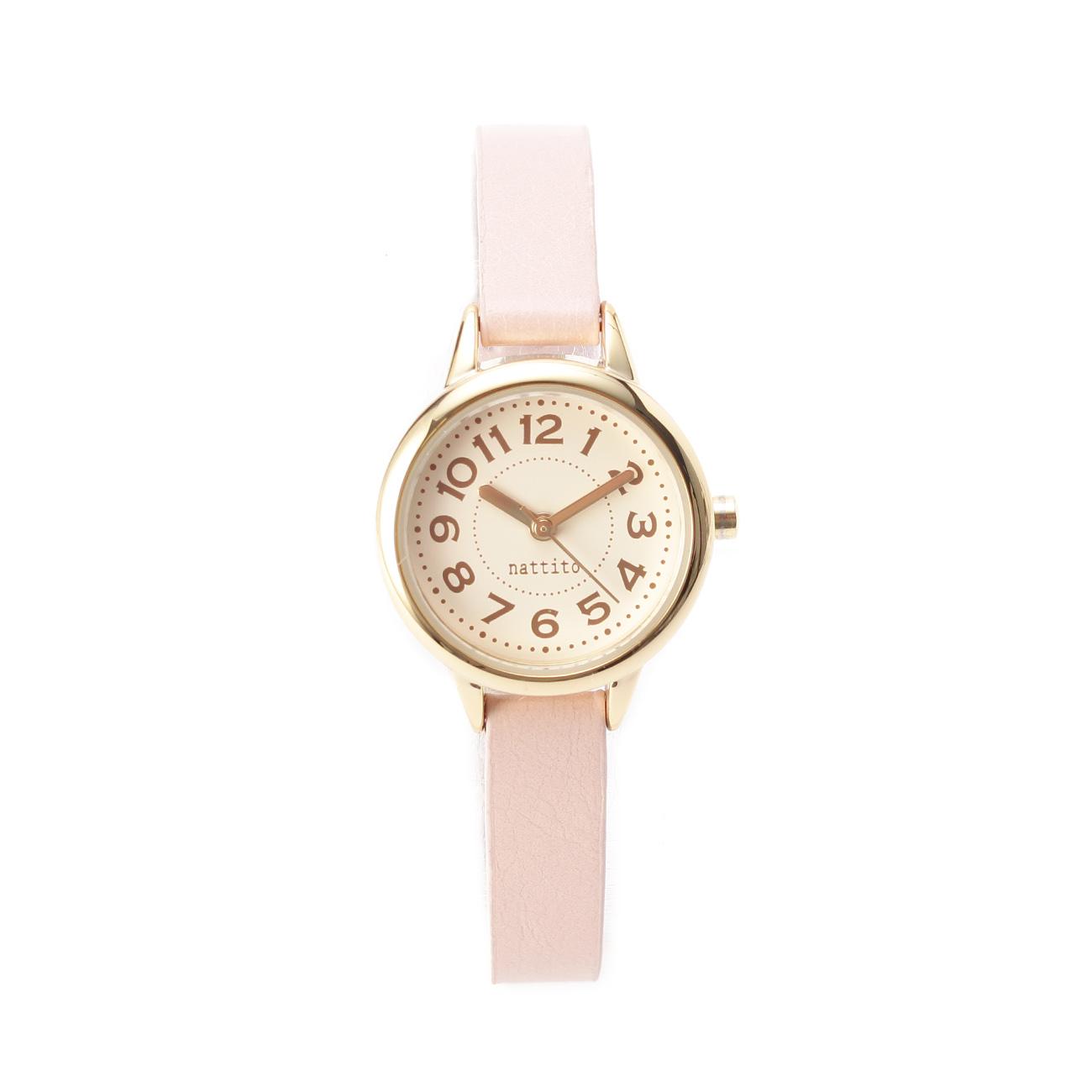 【THE EMPORIUM (ジエンポリアム)】メタリックフレーム腕時計レディース 雑貨|腕時計 ベビーピンク