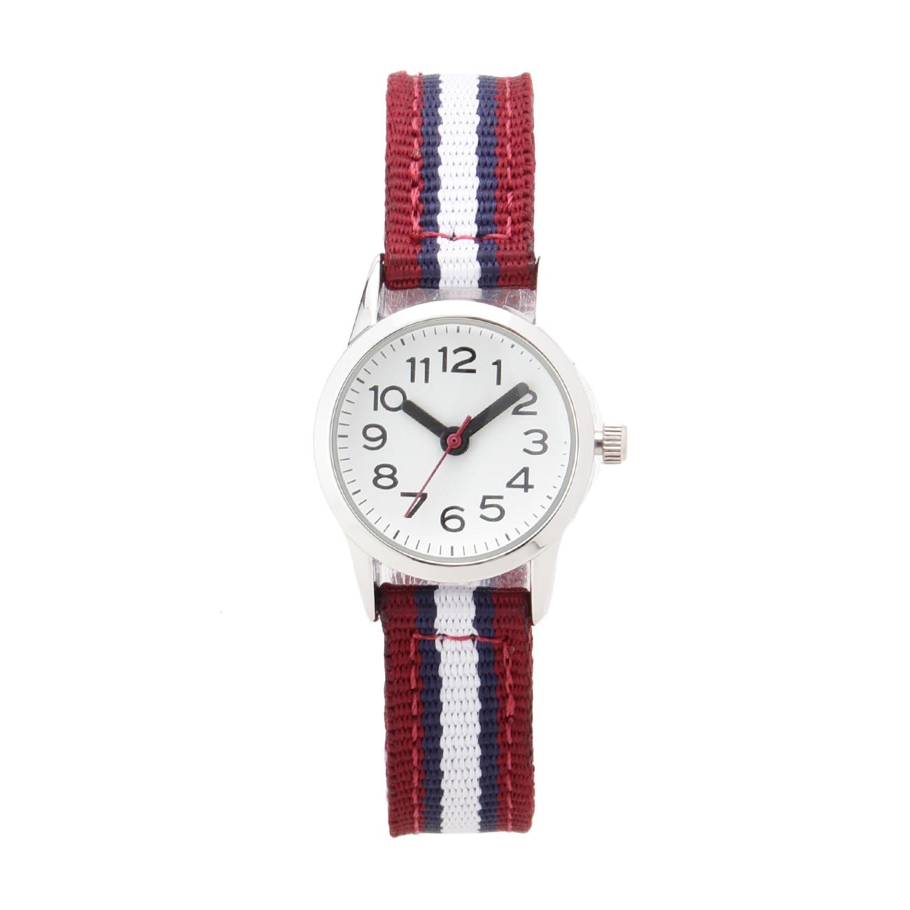 【THE EMPORIUM (ジエンポリアム)】ナイロンベルト腕時計レディース 雑貨 腕時計 ボルドー